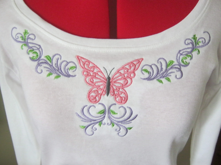 Floral Butterfly Apparel