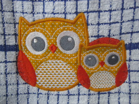 Applique Owls