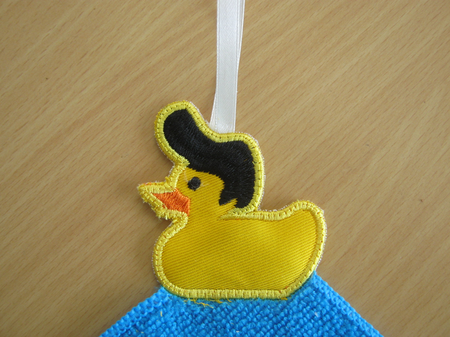 Applique BathTime Duckies